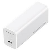 サンワサプライ USB出力付ポータブルバッテリー充電器(ホワイト)