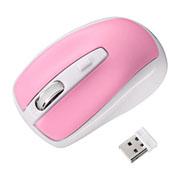 サンワサプライ 超小型レシーバーワイヤレス光学式マウス(ピンク)