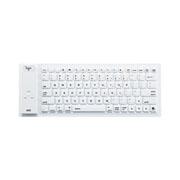 サンワサプライ Bluetoothシリコンキーボード(ホワイト)
