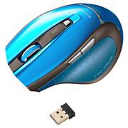 サンワサプライ 超小型レシーバーワイヤレスブルーテックマウス(ブルー)